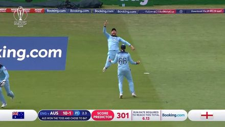 CWC19 SF: AUS v ENG - Warner edges to slip