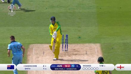 CWC19 SF: AUS v ENG - Handscomb gets into trouble driving