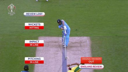 CWC19 SF: Review doesn't save Bairstow from LBW
