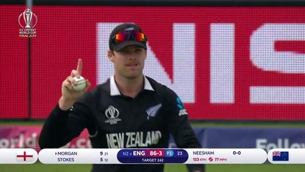 CWC19 Final: NZ v ENG – Ferguson takes brilliant catch to end Morgan's stay