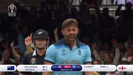 CWC19 Final: NZ v ENG – Plunkett gets the big wicket of Williamson