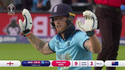 CWC19 Final: NZ v ENG – Deflection off the bat gives England six!