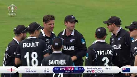 CWC19 Final: NZ v ENG – Root edges behind for 7