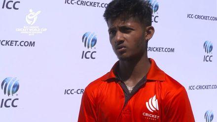 ICC U19 CWC Americas Q – USA v CAN: Player of the Match – Akhil Kumar interview