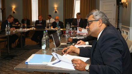 The ICC Development Committee Meeting during the ICC Annual Conference at Kimpton Fitzroy Hotel on July 16, 2019 in London, England.