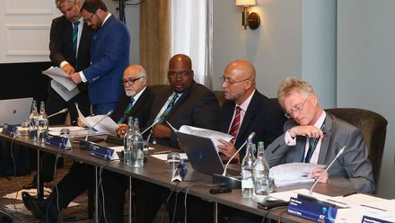 ICC Board Meeting during the ICC Annual Conference at Kimpton Fitzroy Hotel on July 18, 2019 in London, England.