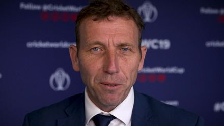 Mike Atherton congratulates Allan Donald on ICC Hall of Fame honour