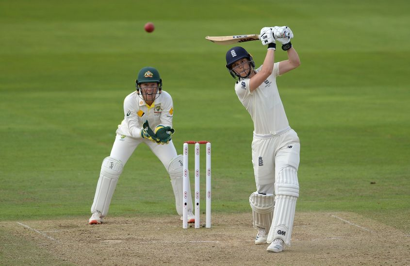 Amy Jones batted fluently before her dismissal