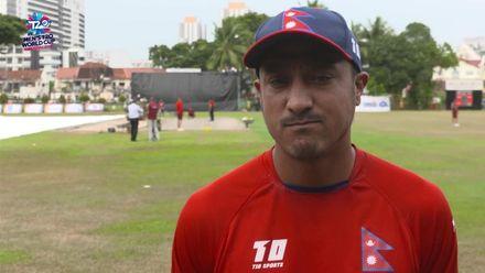 ICC T20 World Cup Asia Q: Qat v Nep – Nepal captain pre-match interview