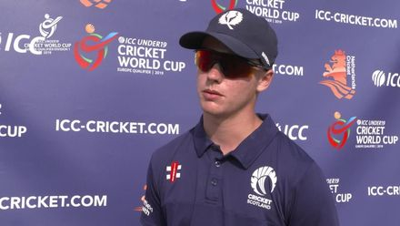 U19 CWC Europe Q: Ned v Sco - Player of the Match interview with Tomas Mackintosh