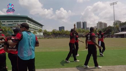 ICC T20WCQ Asia: Sin v Nep – Singapore winning moment