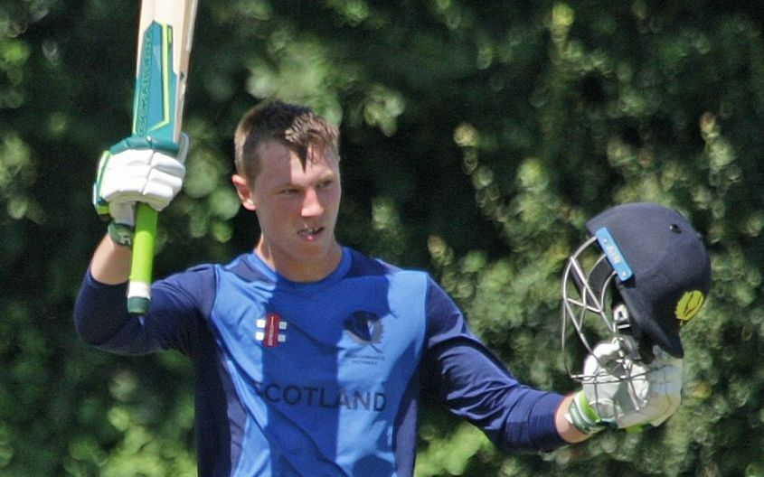 Scotland's Angus Guy scored a brilliant 137 against France