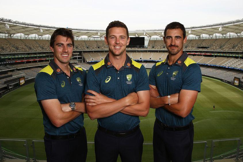 Australia's fab three – Pat Cummins, Josh Hazlewood and Mitchell Starc