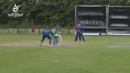 U19 CWC Europe Q: Sco v Ire – Scotland's Tomas Mackintosh backs up his 107 with the bat with a catch and 3 stumpings