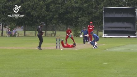 U19 CWC Europe Q: Sco v Den – Jasper Davidson of Scotland reaches his 50