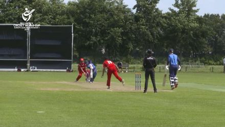 U19 CWC Europe Q: Sco v Den – Syed Shah hits 90 off 98 balls for Scotland