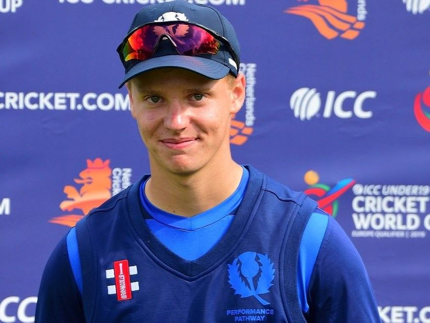 Tomas Mackintosh, the Scotland wicket-keeper batsman, was adjudged Player of the Tournament