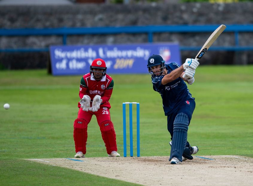Kyle Coetzer propped up the innings for Scotland