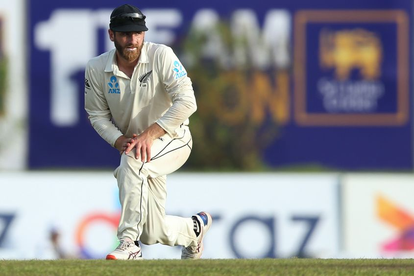 New Zealand caption Kane Williamson is pictured during the First Test match between Sri Lanka and New Zealand at Galle International Stadium on August 15, 2019 in Galle, Sri Lanka.