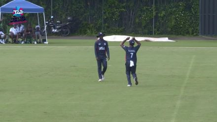 Men's T20WCQ Americas: USA v Cayman Islands – USA's Walsh takes a sharp catch