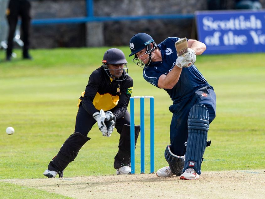 Scotland recovered from early wickets to post 242/7