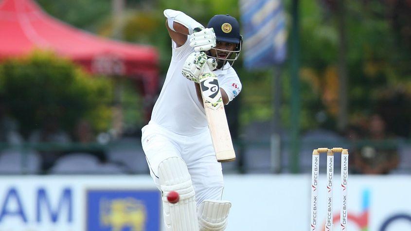 Dimuth Karunaratne remained unbeaten on 49