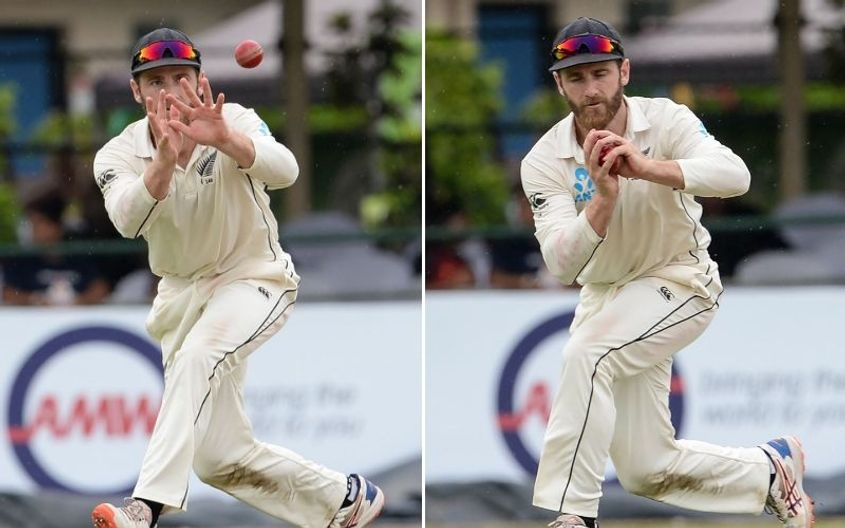 Kane Williamson takes an easy catch at short cover to dismiss Lahiru Thirimanne