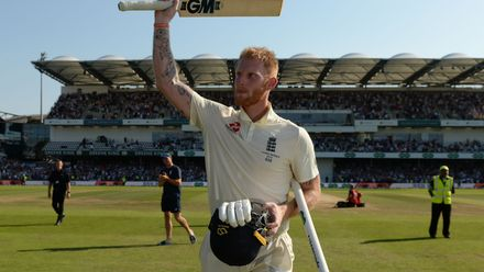 Stokes soaks it all in as he walks off to a standing ovation