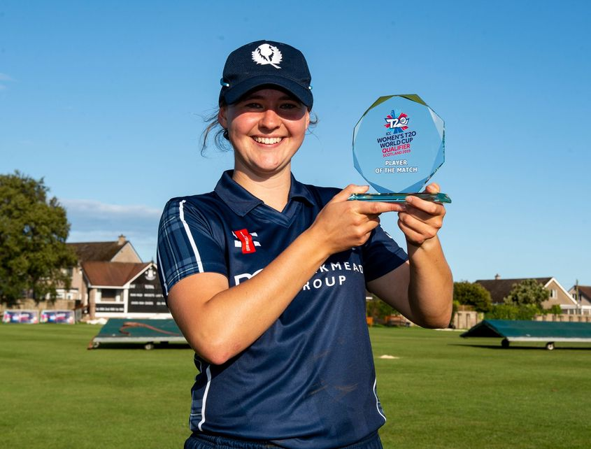 Player of the match, Scotland captain, Kathryn Bryce.