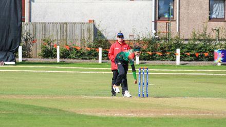 Jahanara Alam opens the bowling for Bangladesh.