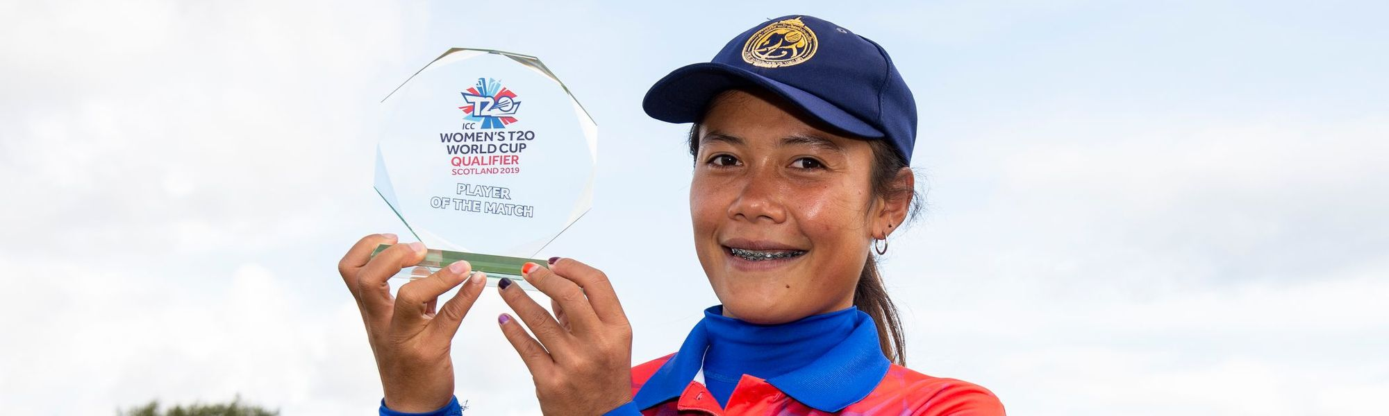 Player of the match, Thailand's Chanida Sutthiruang.