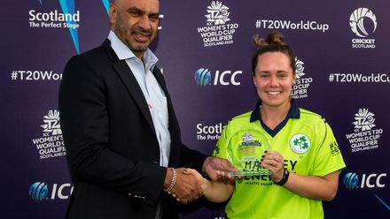 Laura Delany with the Player of the Match award