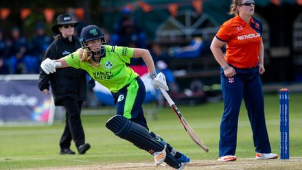 Ireland's Eimear Richardson on her way to 18 not out.