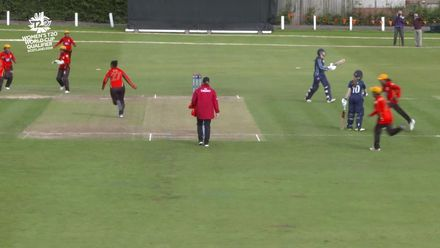 ICC T20WC Qualifier: SCO v PNG - Sarah Bryce walks for a caught behind