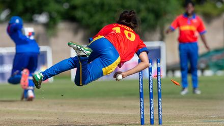 A great attempt by Namibia captain, Yasmeen Khan.