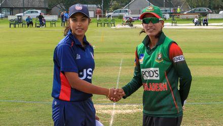 Bangladesh v USA: Sindhu Sriharsha and Salma Khatun at the toss.