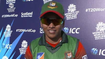 ICC T20WC Qualifier: USA v BAN - Nahida Akter's message to the fans