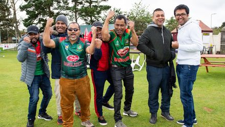 Happy Bangladesh fans.