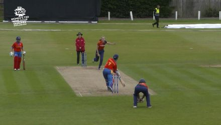 ICC T20WC Qualifier: NED v NAM - Enright is caught at mid-off