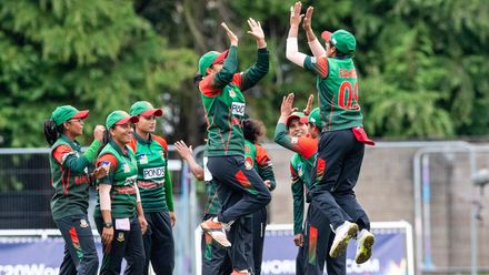 Bangladesh win by 13 runs (DLS Method).