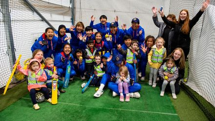 Children from the Forthill after school club and nursery meet the the Thailand team.