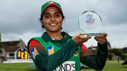 Player of the match - Bangladesh's Nigar Sultana.