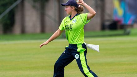 Great fielding by Ireland's Leah Paul.