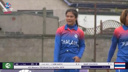 ICC T20WC Qualifier: IRE v THA - Chanida Suttiruang took two early wickets