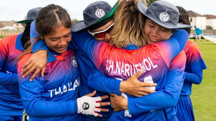 Thailand beat PNG by 8 wickets to reach the finals in Australia.