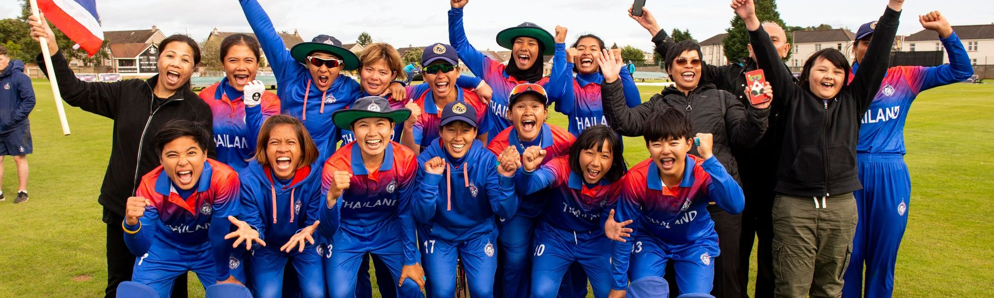 Thailand celebrate T20 World Cup qualification