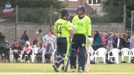 ICC T20WC Qualifier: BAN v IRE - Richardson hits a six over fine leg