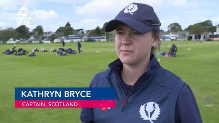 ICC T20WC Qualifier: SCO v NAM - Kathryn Bryce pre-match interview