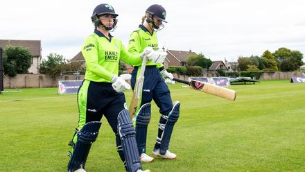 Ireland openers, Mary Waldron and Gaby Lewis.