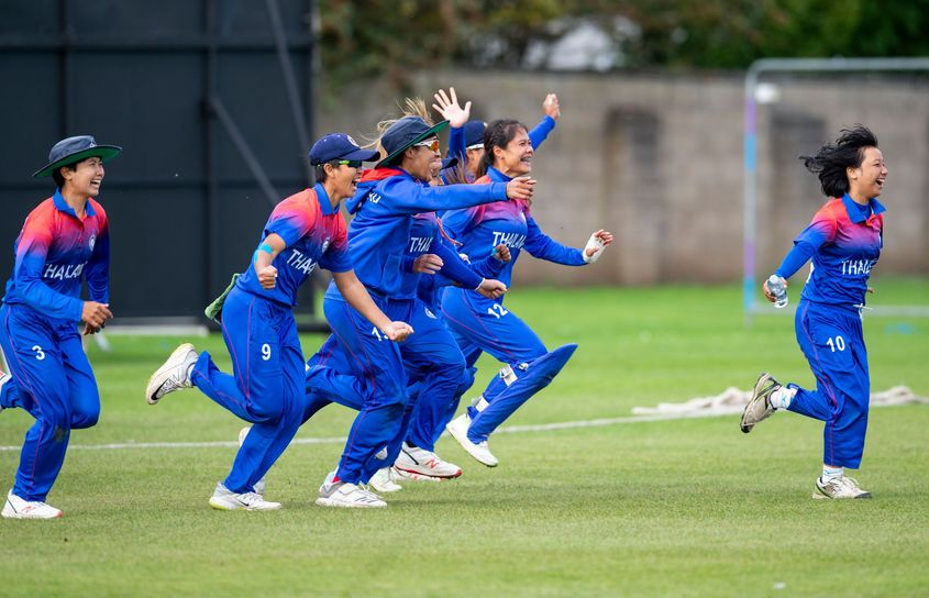 Jubilant Thailand beat PNG by 8 wickets to reach the finals in Australia.